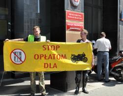 Protest motocyklistów, czyli  pierwsze koty za płoty